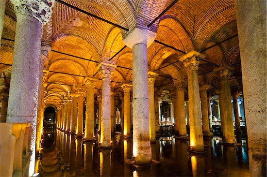 Basilica Cistern, Istanbul, Turkey Stock Photo - Premium Rights-Managed, Artist: R. Ian Lloyd, Image code: 700-05609499