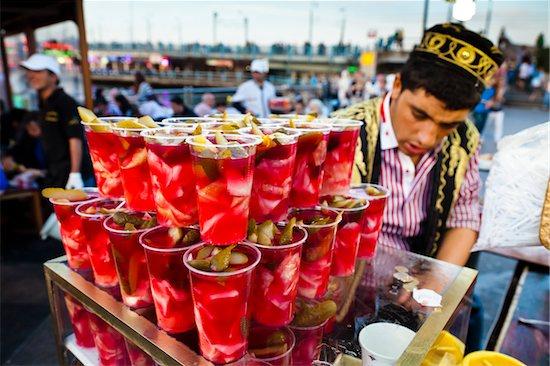 Food Stand beside Galata Bridge, Eminonu, Fatih District, Istanbul, Turkey Stock Photo - Premium Rights-Managed, Artist: R. Ian Lloyd, Image code: 700-05609540