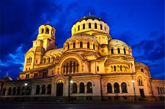 Alexander Nevsky Cathedral at Dusk, Sofia, Bulgaria Stock Photo - Premium Rights-Managed, Artist: R. Ian Lloyd, Image code: 700-05609781