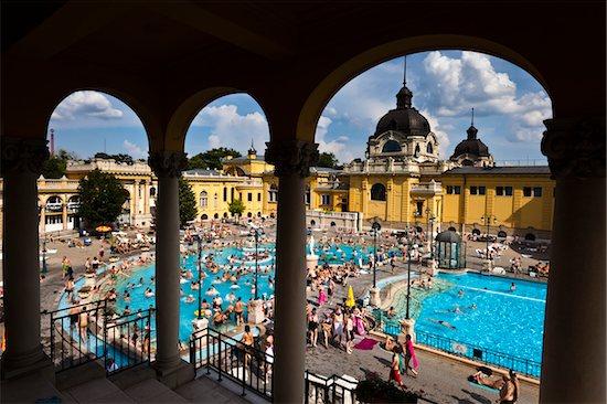 Szechenyi Thermal Baths Complex, Budapest, Hungary Stock Photo - Premium Rights-Managed, Artist: R. Ian Lloyd, Image code: 700-05609861