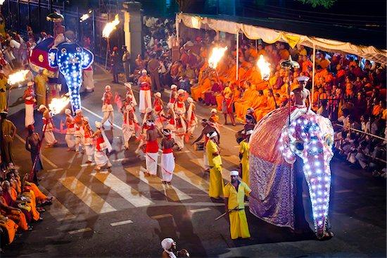 Elephants in Procession, Esala Perahera Festival, Kandy, Sri Lanka Stock Photo - Premium Rights-Managed, Artist: R. Ian Lloyd, Image code: 700-05642344