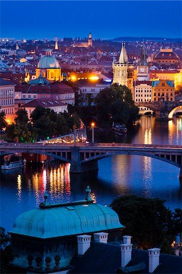 Bridge Over Vltava River, Prague, Czech Republic Stock Photo - Premium Rights-Managed, Artist: R. Ian Lloyd, Image code: 700-05642359