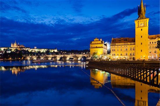 Night View, Prague, Czech Republic Stock Photo - Premium Rights-Managed, Artist: R. Ian Lloyd, Image code: 700-05642369