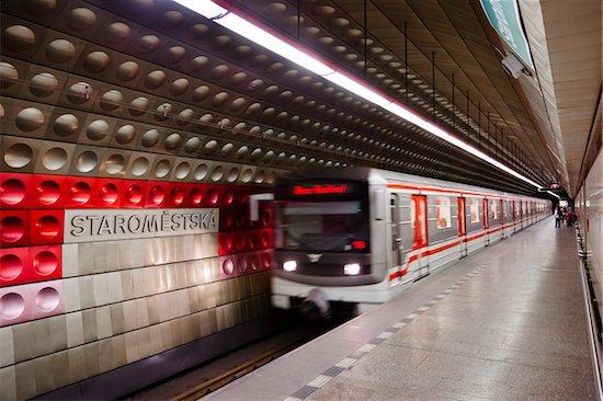 Staromestska Metro Station, Prague, Czech Republic Stock Photo - Premium Rights-Managed, Artist: R. Ian Lloyd, Image code: 700-05642465
