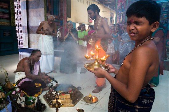 Offerings at Adi Puram Ceremony at Hindu Temple, Colombo, Sri Lanka Stock Photo - Premium Rights-Managed, Artist: R. Ian Lloyd, Image code: 700-05642557