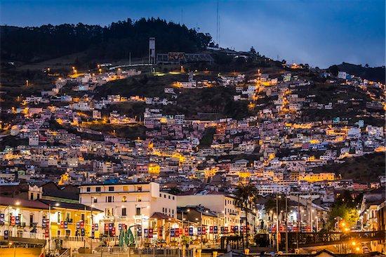 Historic Centre Illuminated at Night, Quito, Ecuador Stock Photo - Premium Rights-Managed, Artist: R. Ian Lloyd, Image code: 700-07279268