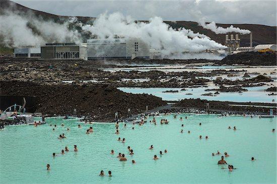 Blue Lagoon Geothermal Spa, Grindavik, Reykjanes Peninsula, South Iceland, Iceland Stock Photo - Premium Rights-Managed, Artist: R. Ian Lloyd, Image code: 700-07745208