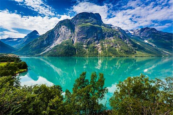Lovatnet, Sogn og Fjordane, Norway Stock Photo - Premium Rights-Managed, Artist: R. Ian Lloyd, Image code: 700-07784706
