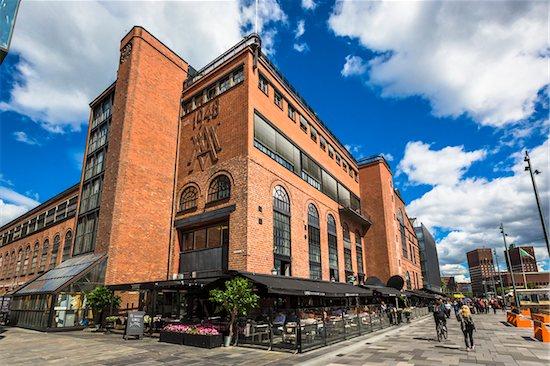 Sidewalk Cafe, Tjuvholmen, Frogner, Oslo, Norway Stock Photo - Premium Rights-Managed, Artist: R. Ian Lloyd, Image code: 700-07783915