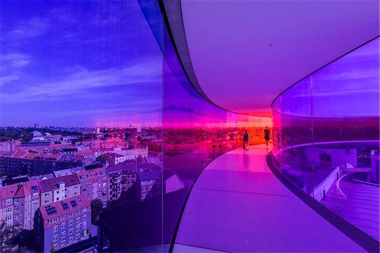 Your Rainbow Panorama by Olafur Eliasson, ARoS Aarhus Kunstmuseum, Aarhus, Denmark Stock Photo - Premium Rights-Managed, Artist: R. Ian Lloyd, Image code: 700-07802637
