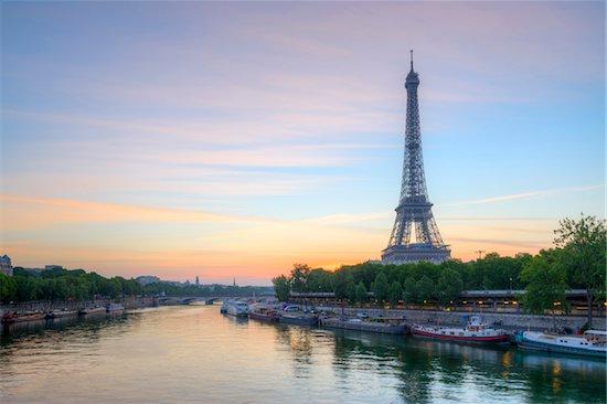 Eiffel Tower at Sunrise, Paris, Ile-de-France, France Stock Photo - Premium Rights-Managed, Artist: Siephoto, Image code: 700-08559865