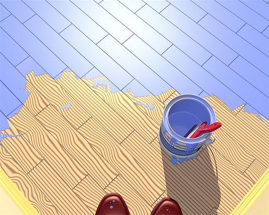 Illustration of Floor Painting Stock Photo - Premium Rights-Managed, Artist: Thomas Dannenberg, Image code: 700-00023836