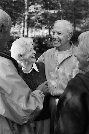 Photo Black And White Old Women Talking