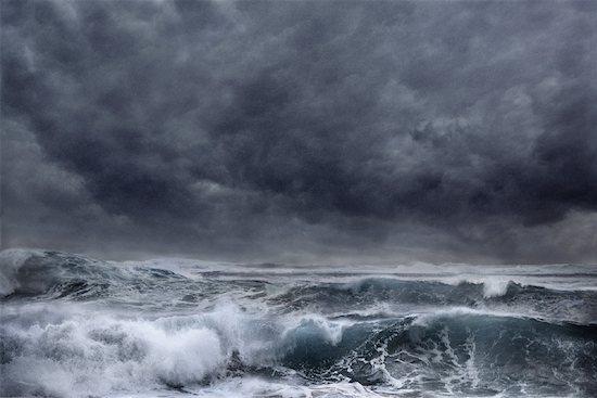 Stormy Sea Stock Photo - Premium Rights-Managed, Artist: Allan Davey, Image code: 700-00055172