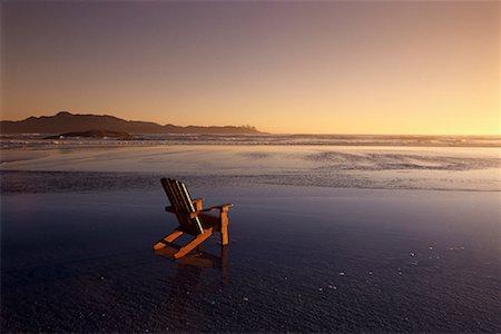 adirondack chairs on beach sunset.  Chairs Adirondack Chair On Beach At Sunset Long Beach Vancouver Island British  Columbia With Chairs On Sunset H