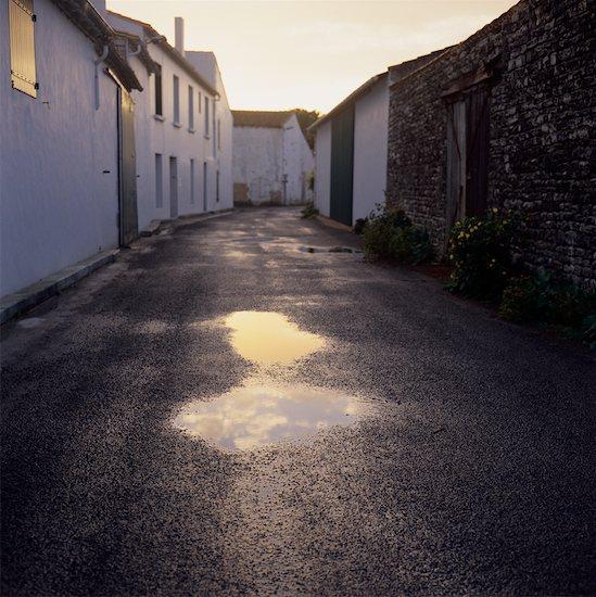 Buildings and Alleyway Ile de Re, Atlantic Coast, France Stock Photo - Premium Rights-Managed, Artist: Min Roman, Image code: 700-00076669