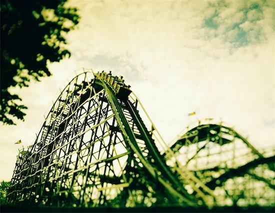 Wooden Roller Coaster Stock Photo - Premium Rights-Managed, Artist: Eric Schmidt, Image code: 700-00098920