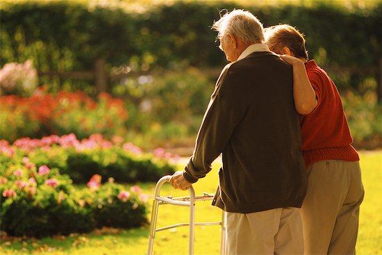 Mature Couple Walking in Garden Stock Photo - Premium Rights-Managed, Artist: Richard Smith, Image code: 700-00099913