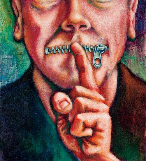 Speak No Evil Concept Stock Photo - Premium Rights-Managed, Artist: James Wardell, Image code: 700-00179290