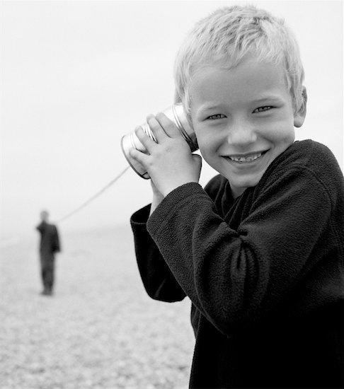 Children Using Tin Can Telephone Stock Photo - Premium Rights-Managed, Artist: Paul Wenham-Clarke, Image code: 700-00357538