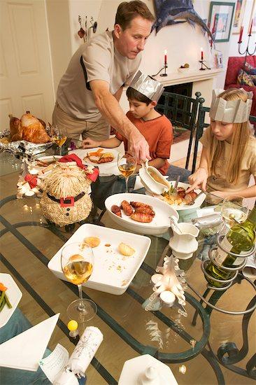 Christmas Dinner Stock Photo - Premium Rights-Managed, Artist: Pete Webb, Image code: 700-00350859