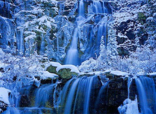 Tangle Creek Falls, Jasper National Park, Alberta, Canada Stock Photo - Premium Rights-Managed, Artist: Daryl Benson, Image code: 700-00530159