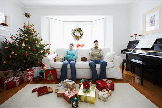 Couple Having Argument on Christmas Stock Photo - Premium Rights-Managed, Artist: Jerzyworks, Image code: 700-00547116
