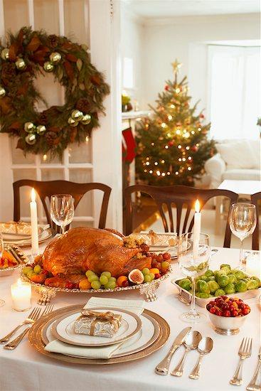 Turkey Dinner Stock Photo - Premium Rights-Managed, Artist: Jerzyworks, Image code: 700-00547309