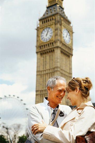 Portrait of Couple Outside of Big Ben, London, England Stock Photo - Premium Rights-Managed, Artist: Mark Leibowitz, Image code: 700-00607145