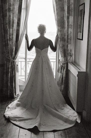 Bride Standing By Window Stock Photo - Premium Rights-Managed, Artist: Leanne Pedersen, Image code: 700-00795813