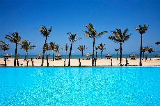 Pool and Beach by Resort, China Beach, Hoi An, Vietnam Stock Photo - Premium Rights-Managed, Artist: R. Ian Lloyd, Image code: 700-00866444