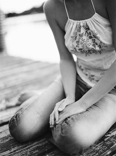 Woman Sitting Stock Photo - Premium Rights-Managed, Artist: Mark Leibowitz, Image code: 700-00897675