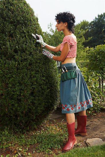 Woman Gardening Stock Photo - Premium Rights-Managed, Artist: Masterfile, Image code: 700-01073642