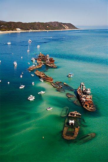 Tangalooma Wrecks, Moreton Island, Queensland, Australia Stock Photo - Premium Rights-Managed, Artist: R. Ian Lloyd, Image code: 700-01164924