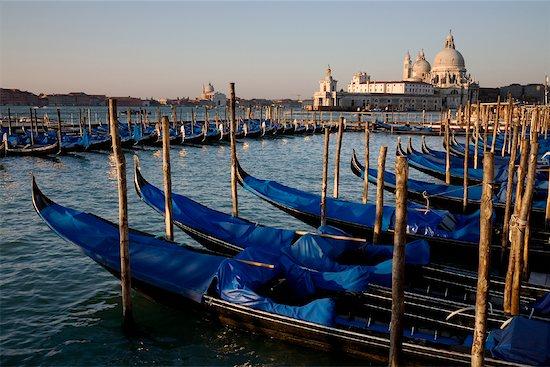 Gondolas and Santa Maria Della Salute Basilica, Venice, Italy Stock Photo - Premium Rights-Managed, Artist: R. Ian Lloyd, Image code: 700-01185486