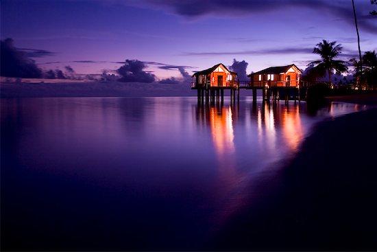 Beach Houses, Coconuts Beach Club Samoa Stock Photo - Premium Rights-Managed, Artist: R. Ian Lloyd, Image code: 700-01519465