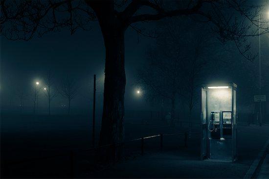 Telephone Booth at Night, Edinburgh, Midlothian, Scotland, UK Stock Photo - Premium Rights-Managed, Artist: Tim Hurst, Image code: 700-01538869