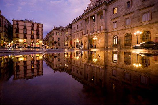 Plaza St Jaume, Barcelona, Spain Stock Photo - Premium Rights-Managed, Artist: R. Ian Lloyd, Image code: 700-01879611