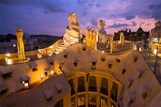 Casa Mila, Barcelona, Spain Stock Photo - Premium Rights-Managed, Artist: R. Ian Lloyd, Image code: 700-01879646