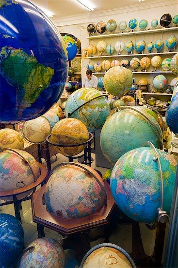 Globe Shop, Barcelona, Spain Stock Photo - Premium Rights-Managed, Artist: R. Ian Lloyd, Image code: 700-01879660