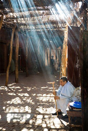 Man, Medina of Marrakech, Morocco Stock Photo - Premium Rights-Managed, Artist: R. Ian Lloyd, Image code: 700-01879961