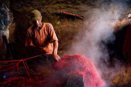 Dyers Souk, Medina of Marrakech, Morocco Stock Photo - Premium Rights-Managed, Artist: R. Ian Lloyd, Image code: 700-01879980