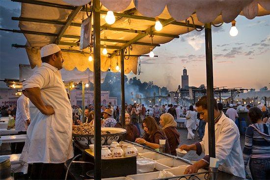 Food Stand, Jemaa El Fna, Medina of Marrakech, Morocco Stock Photo - Premium Rights-Managed, Artist: R. Ian Lloyd, Image code: 700-01879996