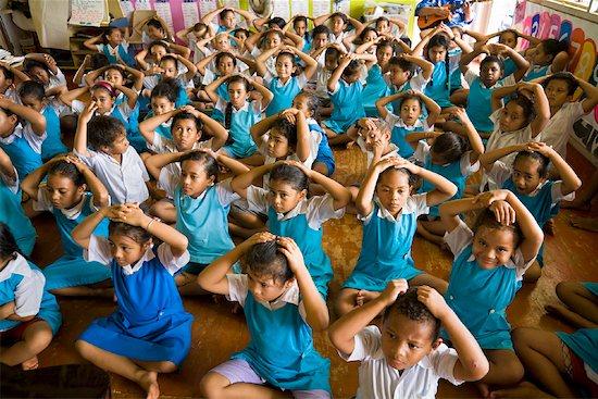 Music Lessons at Niue Primary School, Alofi, Niue Island, South Pacific Stock Photo - Premium Rights-Managed, Artist: R. Ian Lloyd, Image code: 700-01880030
