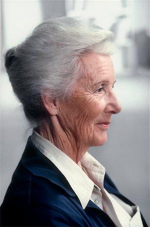 old woman profile