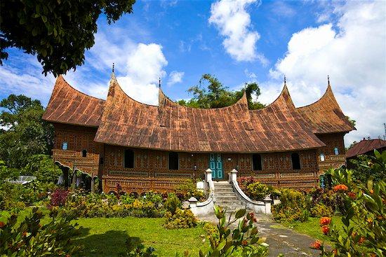 Traditional Minangkabua House, Pandai Sikat, Sumatra, Indonesia Stock Photo - Premium Rights-Managed, Artist: R. Ian Lloyd, Image code: 700-02046601