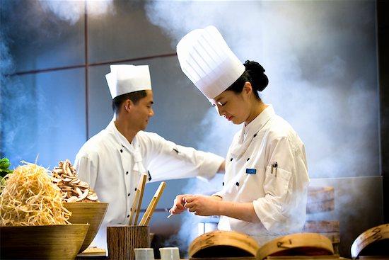 Chefs Preparing Dim Sum, Parkview Restaurant, Shilla Seoul Hotel, Seoul, South Korea Stock Photo - Premium Rights-Managed, Artist: R. Ian Lloyd, Image code: 700-02289664