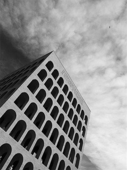 Pallazzo della Civita Italiana, Esposizione Universale Roma, Rome, Italy Stock Photo - Premium Rights-Managed, Artist: Siephoto, Image code: 700-02315045