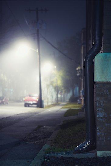 Street at Night in Savannah, Georgia, USA Stock Photo - Premium Rights-Managed, Artist: Nathan Jones, Image code: 700-02786855