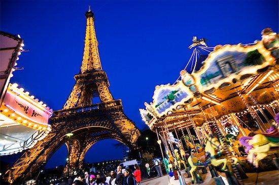 Eiffel Tower, Paris, Ile de France, France Stock Photo - Premium Rights-Managed, Artist: R. Ian Lloyd, Image code: 700-03068981